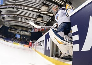 OSTRAVA, CZECH REPUBLIC - MAY 7: Finland's Pekka Rinne #35 takes to the ice before facing off against Team Slovenia during preliminary round action at the 2015 IIHF Ice Hockey World Championship. (Photo by Richard Wolowicz/HHOF-IIHF Images)