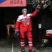 PRAGUE, CZECH REPUBLIC - MAY 8: The Czech Republic's Jaromir Jagr #68 is greeted by fans as he's about to take to the ice for preliminary round action against Austria at the 2015 IIHF Ice Hockey World Championship. (Photo by Andre Ringuette/HHOF-IIHF Images)
