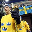 PRAGUE, CZECH REPUBLIC - MAY 9: Sweden's Oscar Moller #45 takes to the ice for preliminary round action against Switzerland at the 2015 IIHF Ice Hockey World Championship. (Photo by Andre Ringuette/HHOF-IIHF Images)