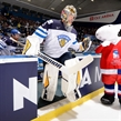OSTRAVA, CZECH REPUBLIC - MAY 11: Finland's Pekka Rinne #35 takes to the ice before facing off against Team Belarus during preliminary round action at the 2015 IIHF Ice Hockey World Championship. (Photo by Richard Wolowicz/HHOF-IIHF Images)